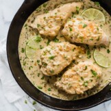 This Cilantro Lime Chicken is a creamy low carb and gluten free dish perfect for any night of the week!