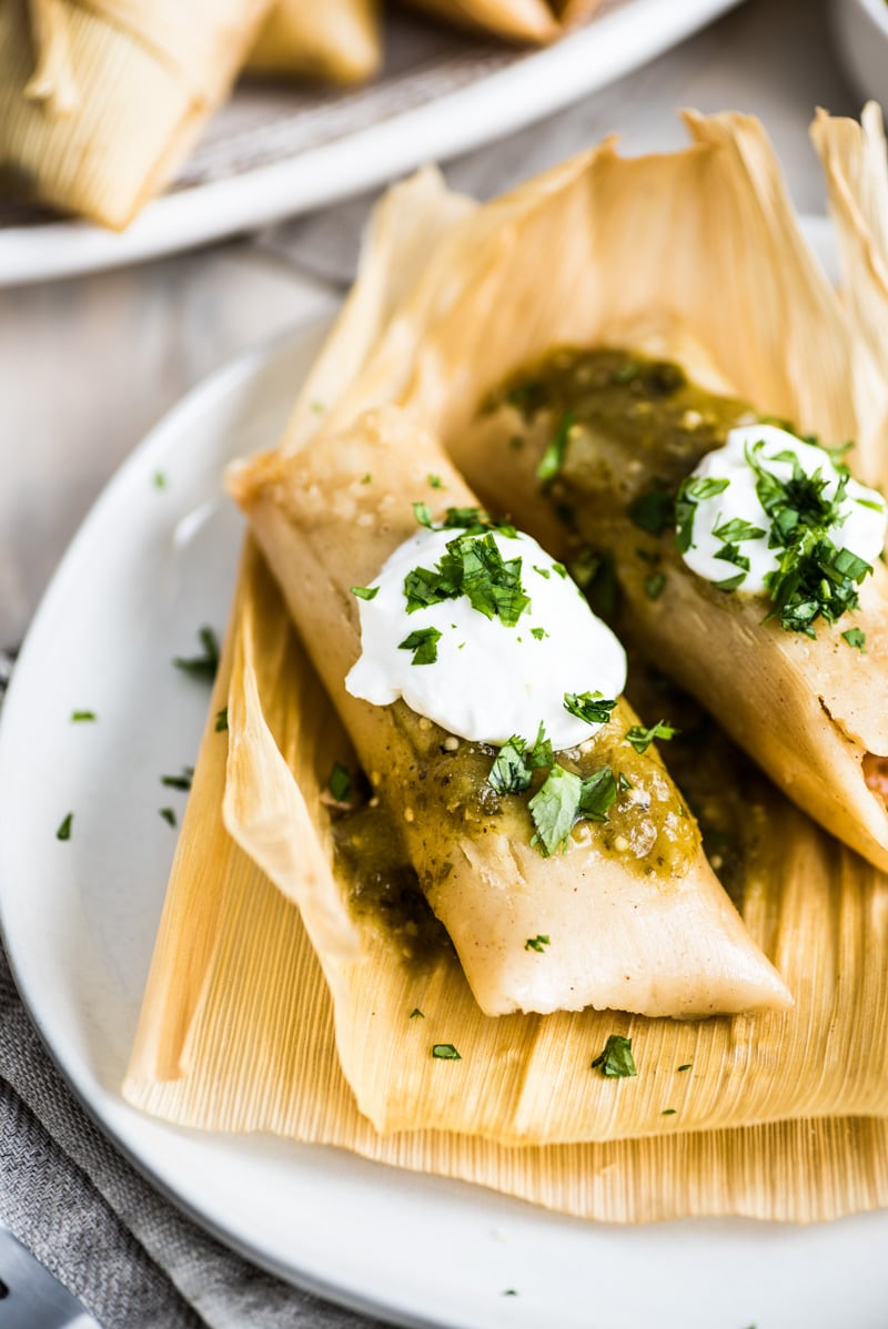 Green Chile And Cheese Vegetarian Tamales Isabel Eats