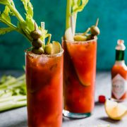 This Mexican Bloody Maria cocktail is made with tequila and lime juice for a fun twist on the classic Bloody Mary.