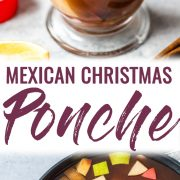 Mexican Christmas Ponche is a warm and comforting fruit punch made with apples, pears, oranges and guavas and spiced with cinnamon, cloves, tamarind and hibiscus.