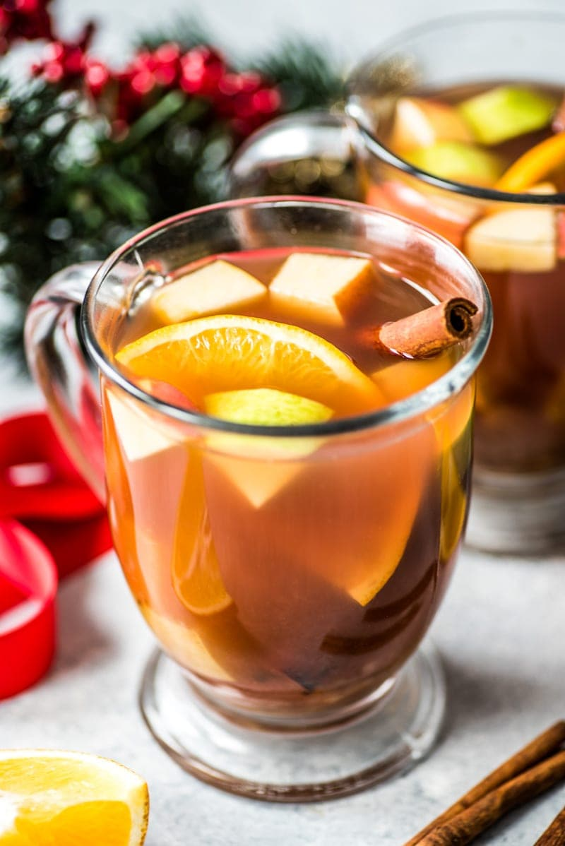 Mexican Ponche is a warm and comforting fruit punch made with apples, pears, oranges and guavas and spiced with cinnamon, cloves, tamarind and hibiscus.