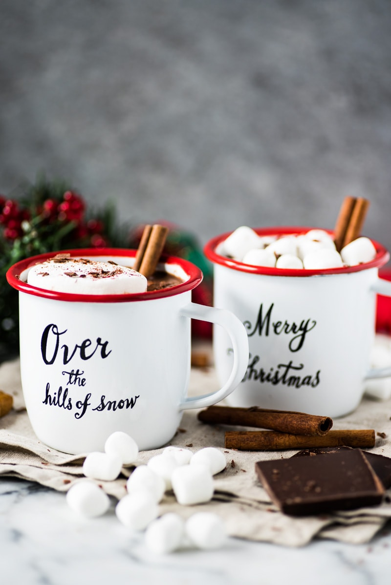 This Mexican Hot Chocolate made with 100% unsweetened cocoa powder, cinnamon and a hint of chili will warm you up from the inside out!