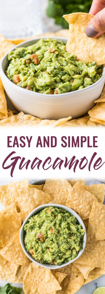 pin for easy and simple guacamole recipe