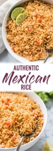 My Mom's Authentic Mexican Rice Recipe is made with simple ingredients like chopped tomatoes, onions and garlic and is the perfect side dish for any meal.