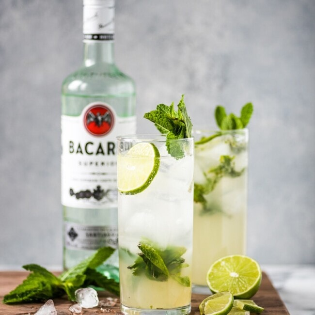 This Classic Mojito Recipe is one of the most refreshing cocktails you'll ever have! Made with white rum, lime juice and fresh mint leaves, this drink is a definite crowd pleaser.