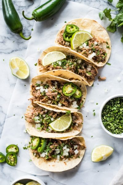 Mexican Slow Cooker Pork Carnitas Tacos