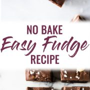 This No Bake Easy Fudge recipe made with chocolate chips, sweetened condensed milk and touch of cinnamon is the only fudge recipe you'll ever need!
