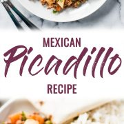 pin for mexican picadillo recipe