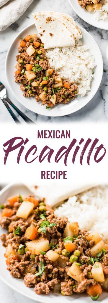 pin for mexican picadillo recipe