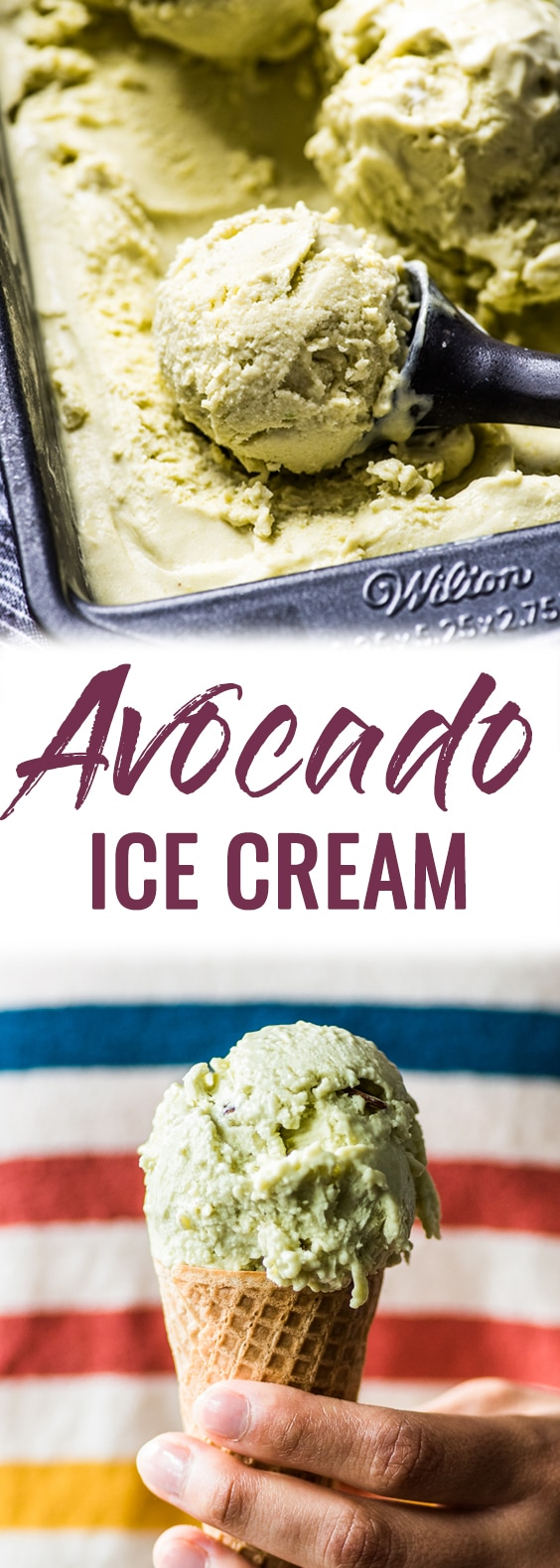 No ice cream maker? No problem! This no churn Avocado Ice Cream is creamy, rich and smooth. All you need is a mixer! (gluten free, vegetarian) #avocado #icecream #nochurn #mexican