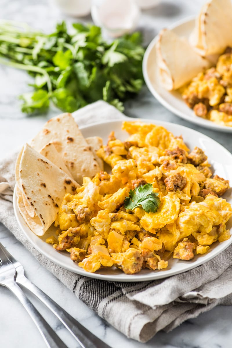 chorizo and eggs scrambled