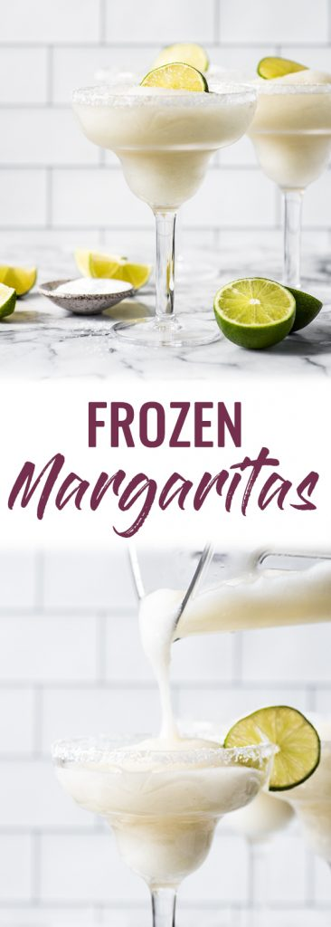 This Frozen Margarita Recipe is cold, slushy, frosty and delicious! Perfect for cooling down and relaxing on those hot, sunny days.