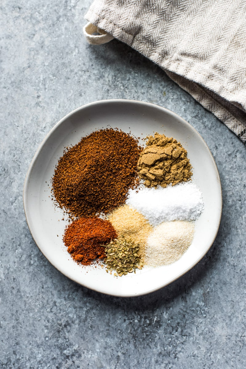 This Homemade Taco Seasoning recipe is made without any fillers, preservatives, added sugar or weird ingredients - just a delicious blend of Mexican spices and herbs to get your taco party started! (gluten free, paleo, vegetarian, vegan)