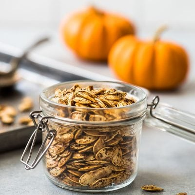 Don't throw away your pumpkins just yet! These step-by-step instructions will show you how to roast pumpkin seeds the easy way - no soaking required. Seasoning options include spicy, plain, sweet cinnamon and brown sugar, bbq and Italian. Learn how to make this healthy snack today!