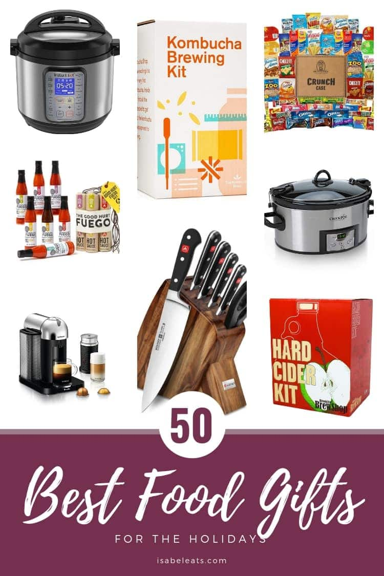 Searching for the best holiday gifts to give this year? Check out the 50 best food gifts for the holidays! There's something for the whole family!