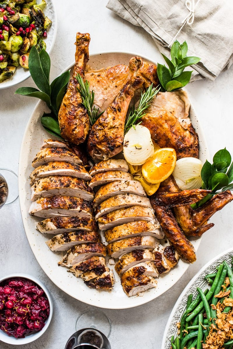 This Chipotle Citrus Thanksgiving Turkey Recipe is juicy, tender and roasted to golden perfection for the best holiday feast!