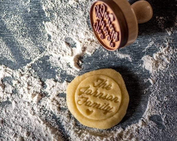 Personalized Wood Cookie Stamp