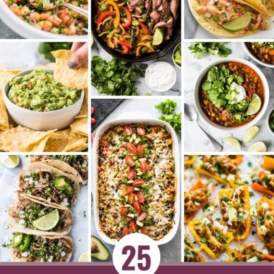 Looking to clean up your diet? Here are 25 Healthy Mexican Food Recipes that will get you eating healthy during the week and help you stay on track!