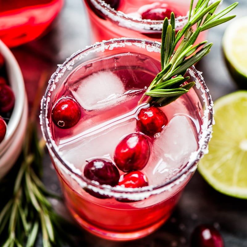 Easy Cranberry Margarita - Looking to spice up your holiday menu? These 12 Mexican Christmas food recipes are perfect for celebrating Las Posadas, Noche Buena and Navidad!
