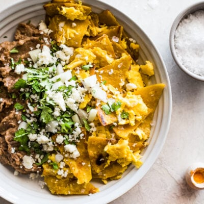 Made with crispy corn tortillas and scrambled eggs, this Easy Migas Recipe is a quick Mexican breakfast that the whole family will love.
