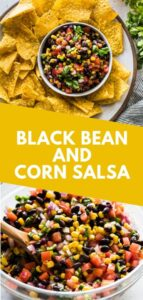 An easy, bright and fresh Black Bean and Corn Salsa recipe that takes only 15 minutes to make! It's the perfect appetizer for that upcoming party and makes a great side dish. (gluten free, vegetarian, vegan) #salsa #mexican #appetizer