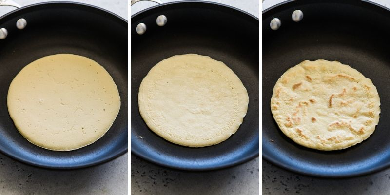 Step by step process on how to make paleo tortillas.