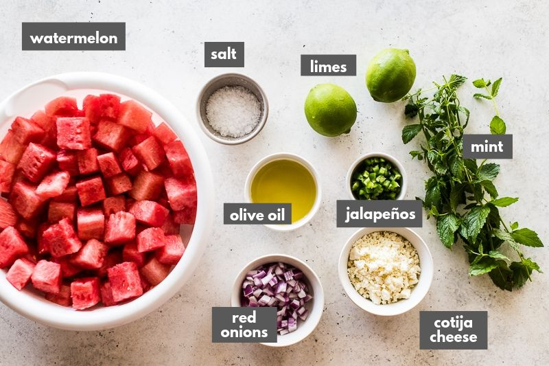Watermelon salad recipe ingredients