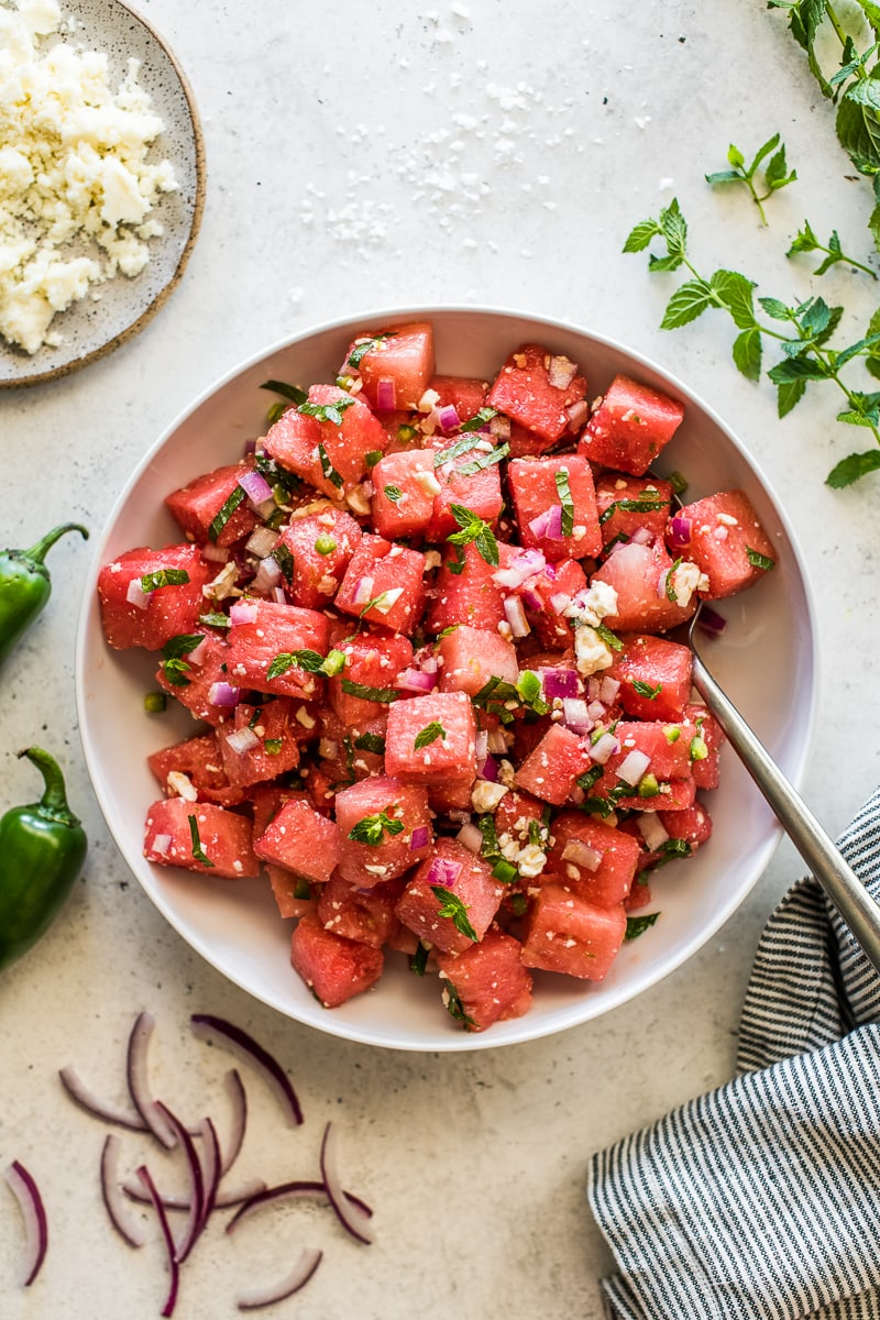EASY WATERMELON SALAD ISABEL EATS