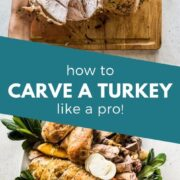 Learn how to carve a turkey with these easy step-by-step instructions, photos and video. Impress your guests this Thanksgiving, Christmas and holiday season! #turkey #thanksgiving