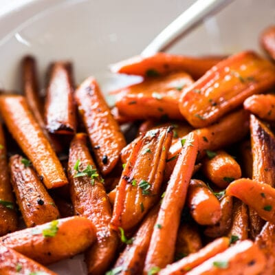 Oven Roasted Carrots with Maple Cinnamon