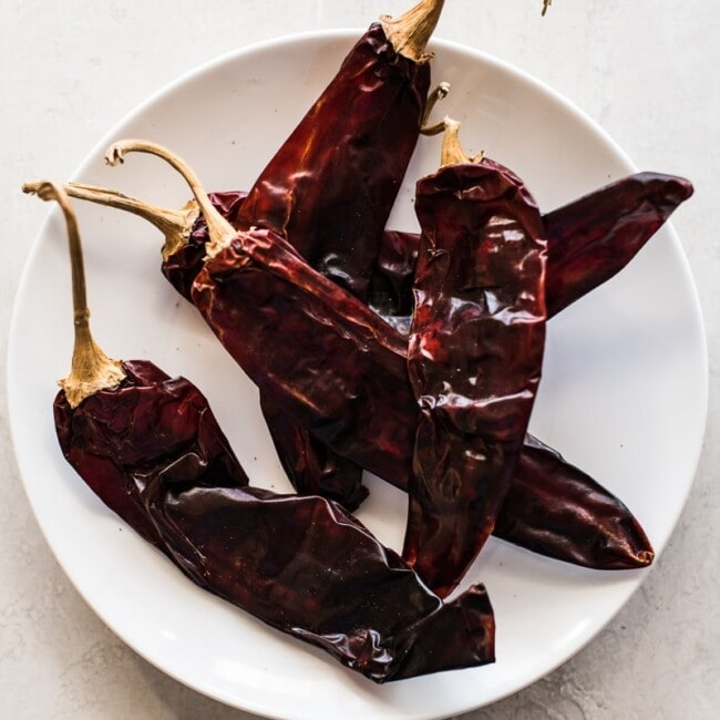 Guajillo chile peppers