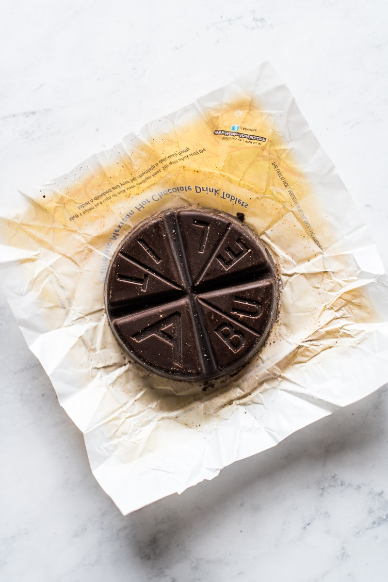 A disc of Abuelita Mexican chocolate