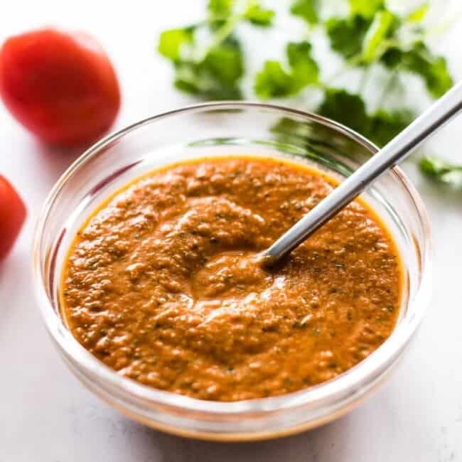 Ranchero sauce in a bowl