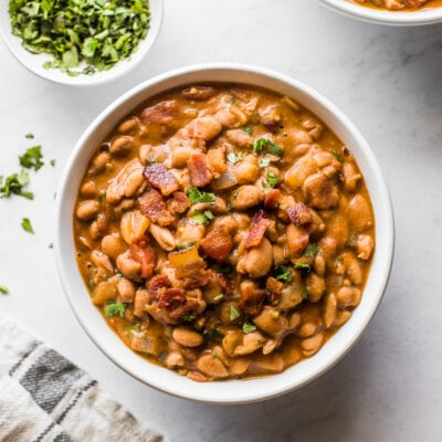 A bowl of borracho beans