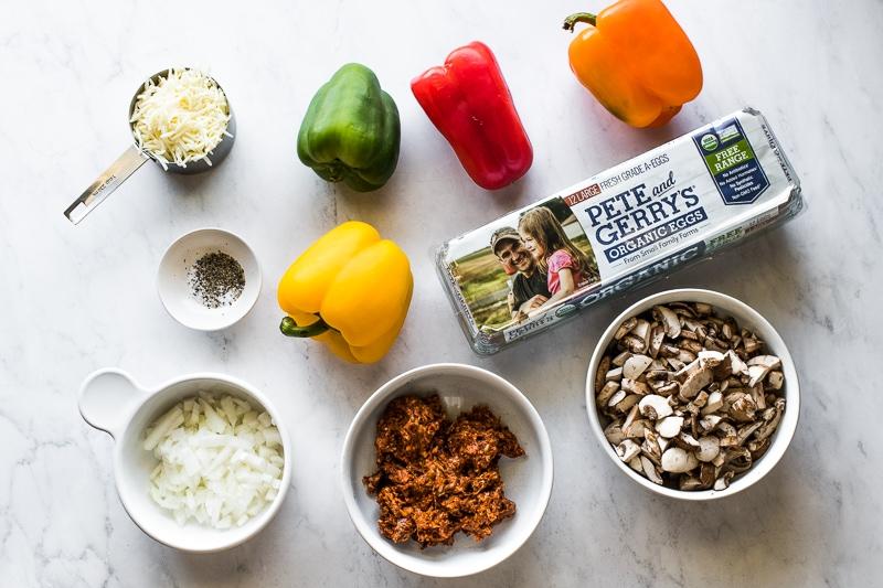 Ingredients in breakfast stuffed peppers