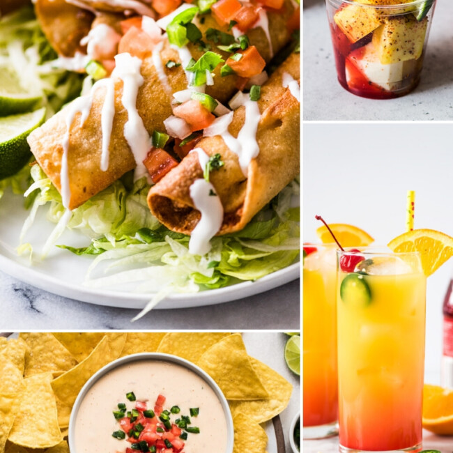 A collage of Cinco de Mayo recipes to make at home.