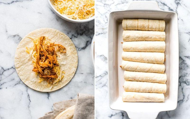 How to make chicken enchiladas