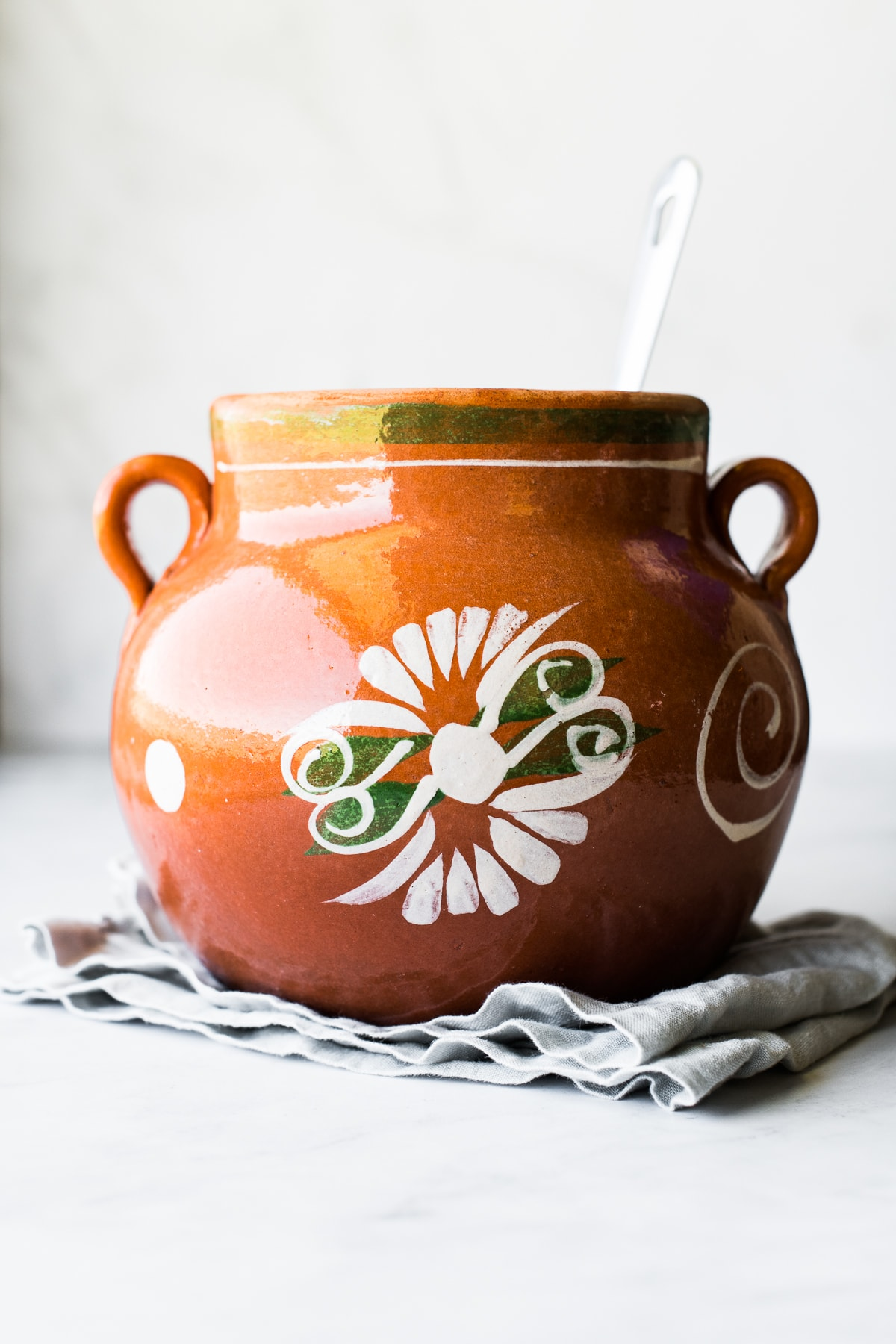 A large olla, a Mexican clay pot using for cooking