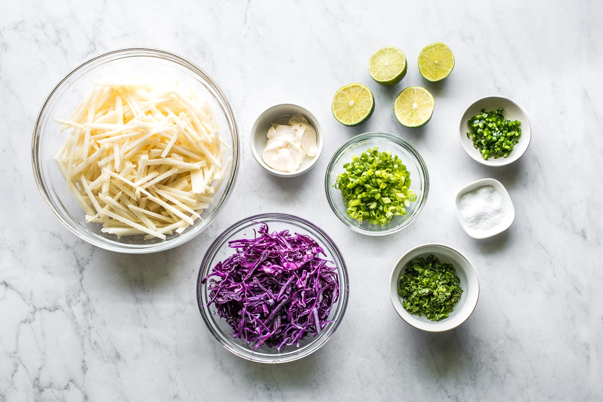 Ingredients for Jicama Slaw