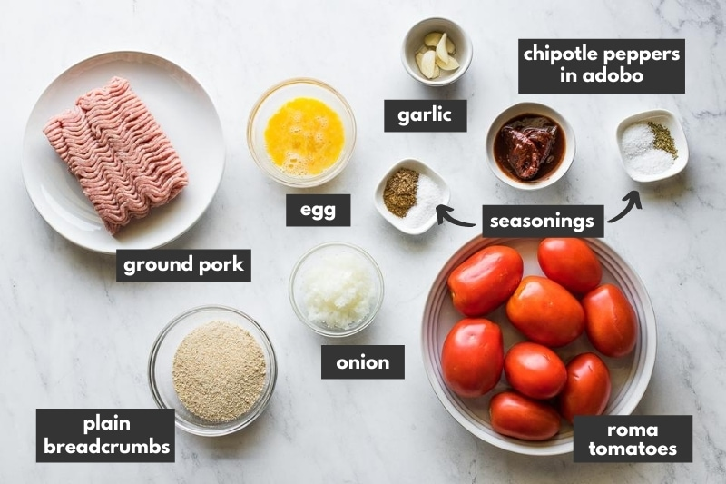 Ingredients used to make Mexican Meatballs