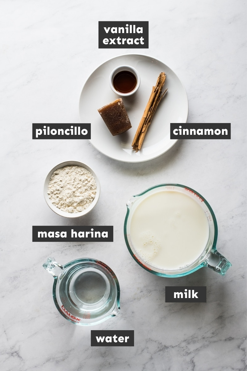 Ingredients in atole