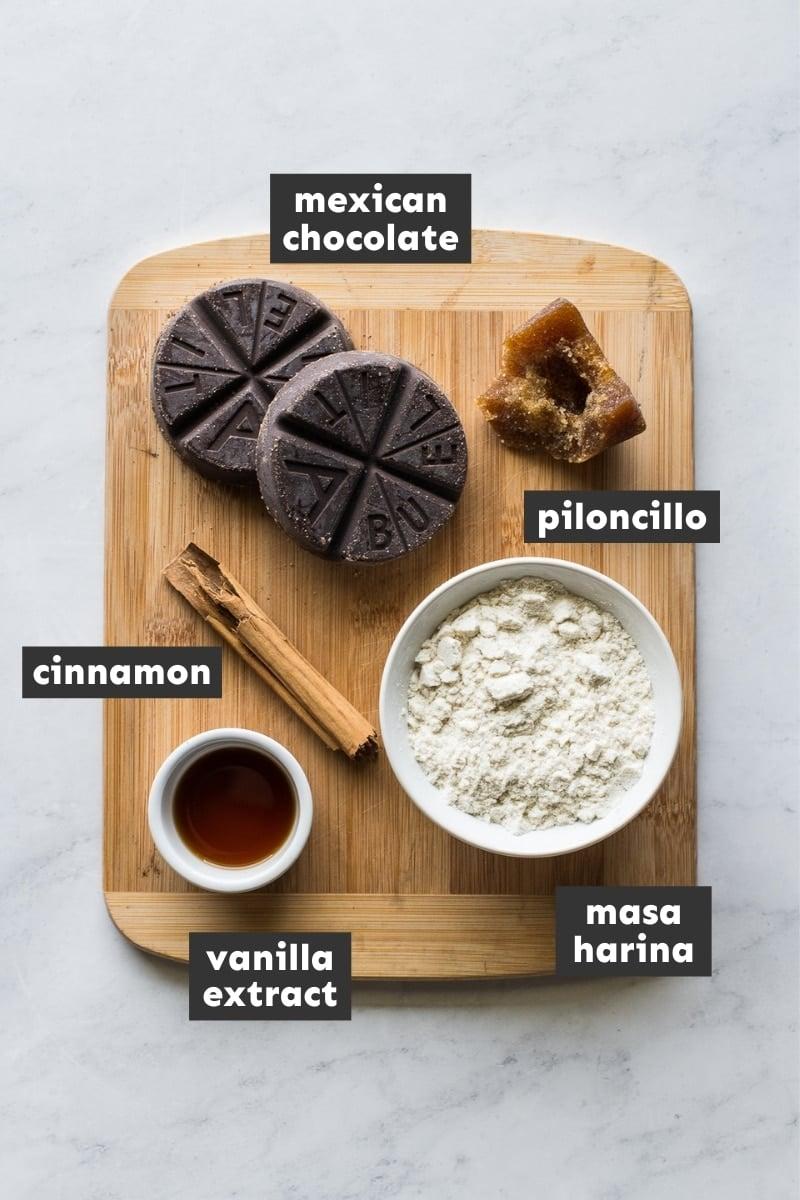 Ingredients in champurrado