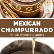 This Champurrado recipe is made with Mexican chocolate, masa harina, milk, water, cinnamon, and vanilla. Thick and creamy, this cozy drink is best enjoyed on a cold winter night during the holiday season.