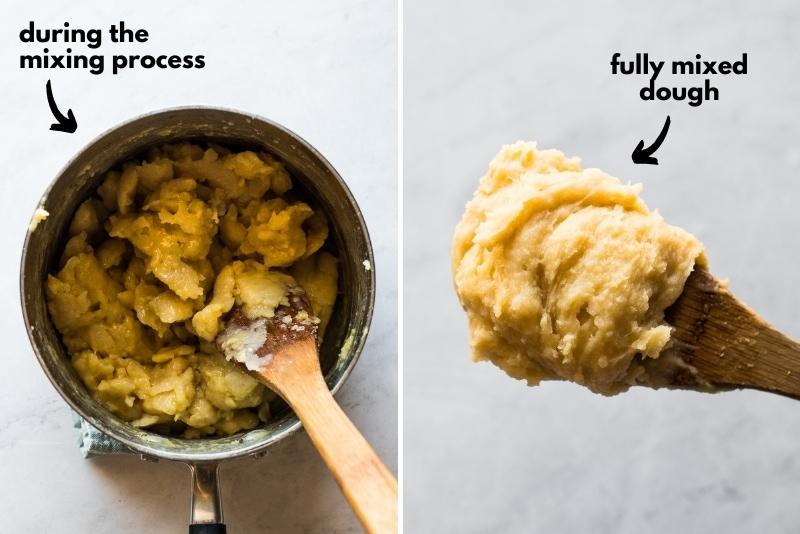 Churro dough in a pot