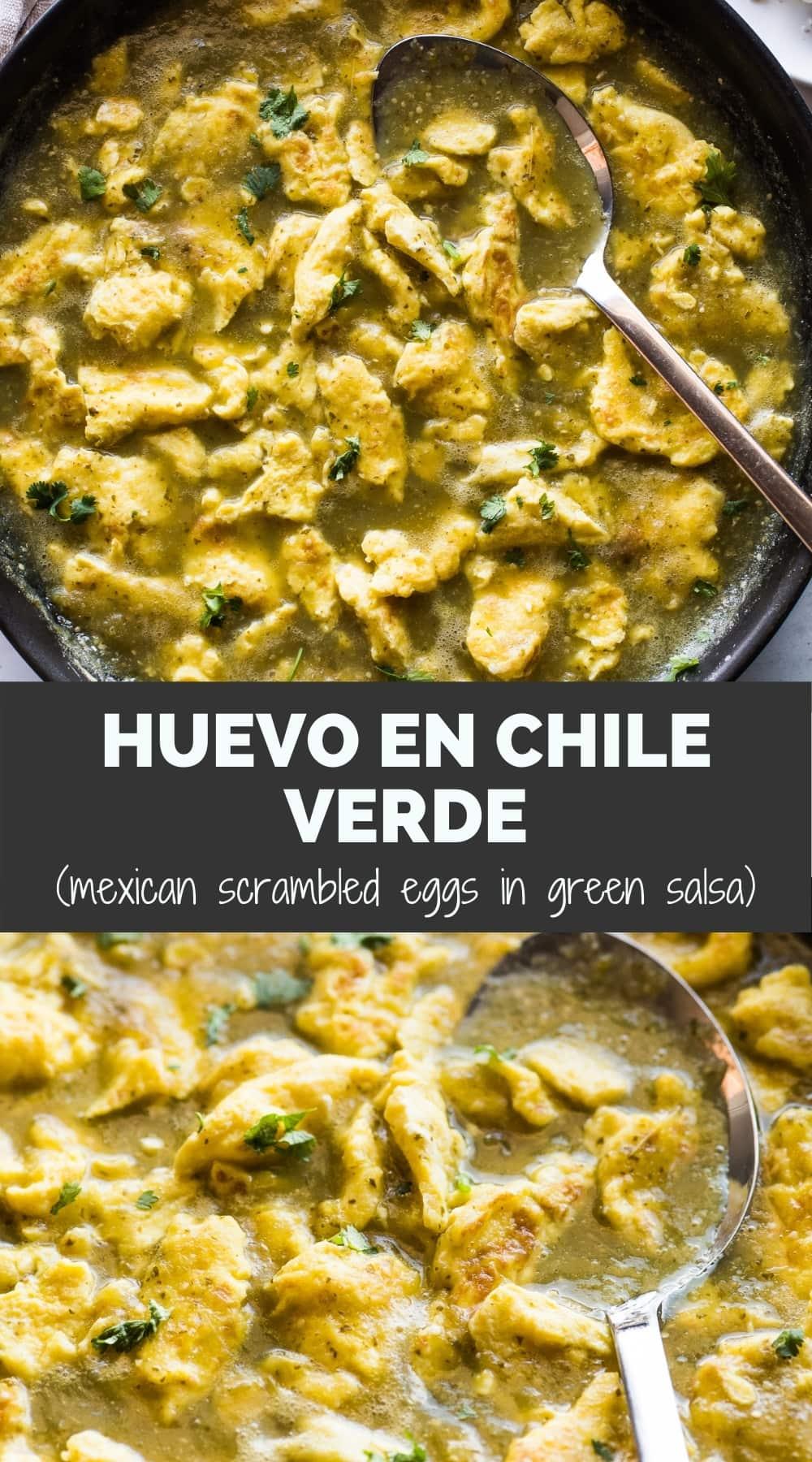 Huevo en Chile Verde (Huevos Revueltos en Salsa Verde)