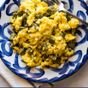 Nopales con Huevo is a classic Mexican breakfast recipe made from scrambled eggs and nopales. It's ready to eat in less than 15 minutes and is delicious served with tortillas and your favorite salsa!