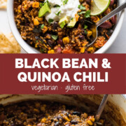 Black bean chili with quinoa
