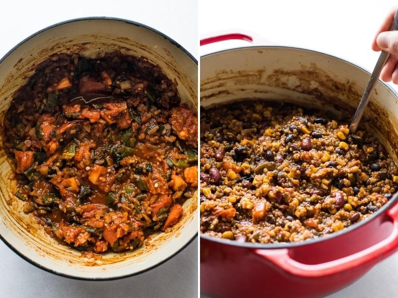 How to make quinoa black bean chili
