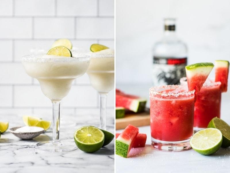 Frozen Margaritas and Watermelon Margaritas to make for Cinco de Mayo.