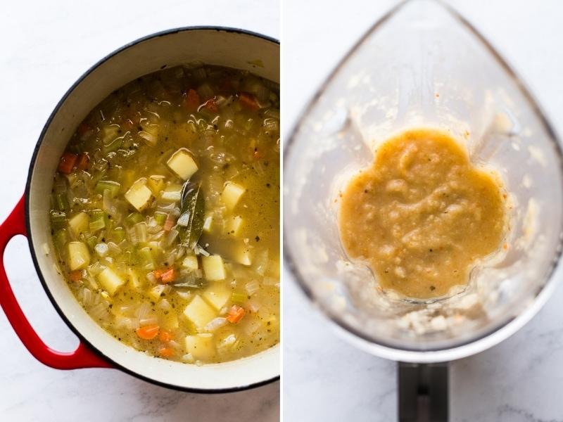 How to make roasted poblano corn chowder